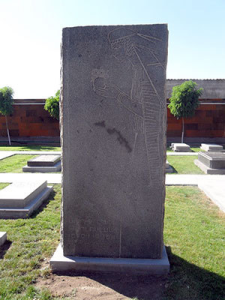 Tadeosian's tombstone at the Komitas Pantheon in Yerevan.