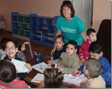 Casey Aghjian with SOAR sponsored orphans