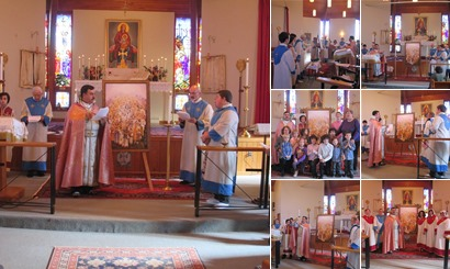Consecration of the Holy Martyrs' Icon