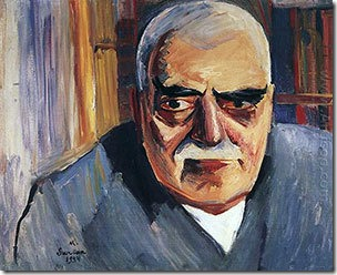A portrait of Toramanian by Martiros Sarian.