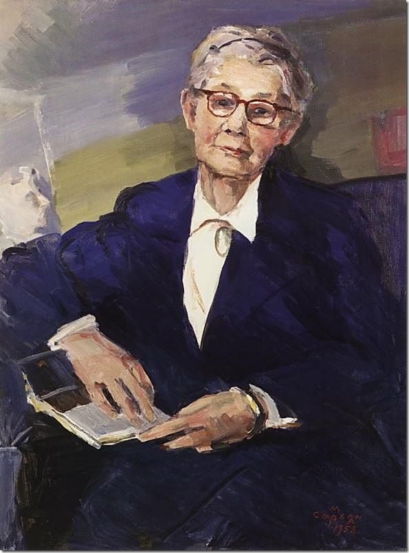 Portrait of Lydia Durnovo, by Martiros Sarian (1958)