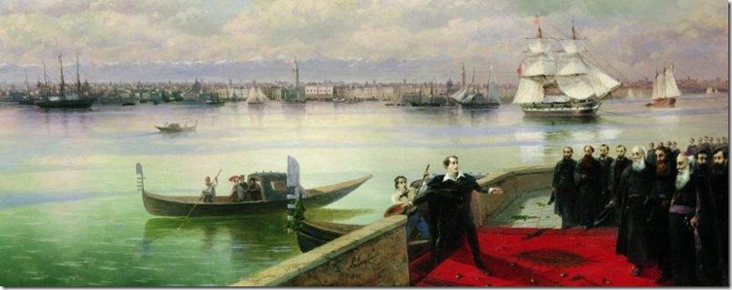 Byron's visit to San Lazzaro by Ivan Aivazovsky